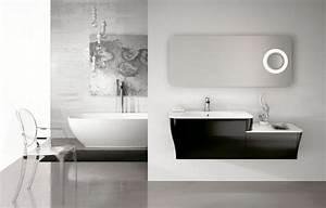 meubles salle de bains modernes en 105 photos magnifiques With meuble salle de bain noir et blanc