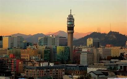 Santiago Chile Entel Torre Wallpapers Minecraft Noche