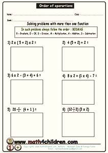 Order Of Operations Worksheet For 2nd