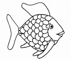 Rainbow Fish Template To Color : Kids Coloring Page ...