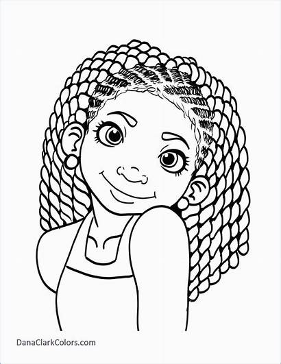Coloring Pages Hair Adult African American Nature