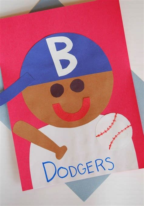 jackie robinson craft projects with black history 599   af45310348ed6970af55f03434027ceb