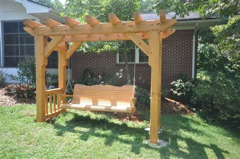 woodworking arbor swing frame plans plans