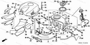 Honda Motorcycle 2003 Oem Parts Diagram For Fuel Tank