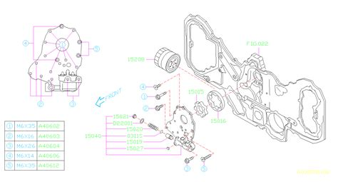 Subaru Outback Case Assembly Oil Relief Pump Filter