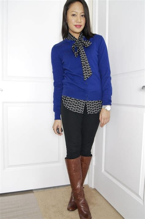 sweater blouse combo i like the tie shirt sweater combo trying to be
