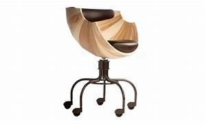 Chaise De Bureau Bois : chaise de bureau de design confortable et chic ~ Teatrodelosmanantiales.com Idées de Décoration
