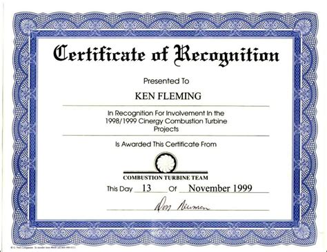 certificate  appreciation wording template update