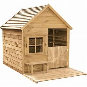 Maison Pour Enfant En Bois : maison de jardin en bois heidi 193x120x146cm 1304942 ~ Premium-room.com Idées de Décoration