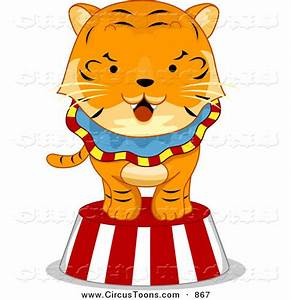 Circus Clipart of a Tiger on a Platform by BNP Design ...