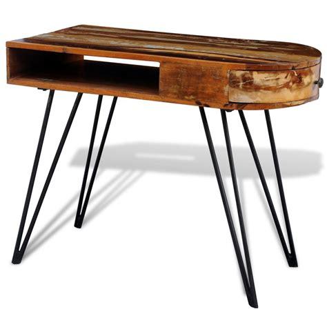 bureau en fer la boutique en ligne bureau en bois solide recyclé avec