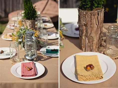 Rustic Chic Camping Theme Baby Shower  The Little Umbrella