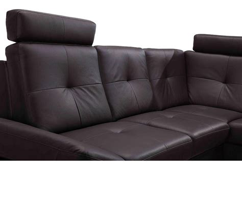 dreamfurniture 973 modern brown leather sectional sofa