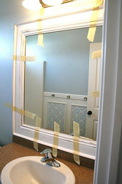 How Do You Remove A Bathroom Mirror by Bathroom Mirror Makeover This Is Something Easy You Can