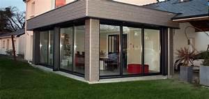 extension bois agrandissement maison 44 woodeal With extension maison bois 20m2