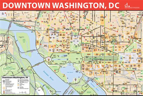 maps update  washington dc tourist map printable