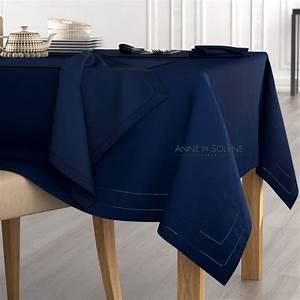 Nappe Bleu Marine : anne de sol ne metis nappe et serviettes bleu marine brandalley ~ Teatrodelosmanantiales.com Idées de Décoration