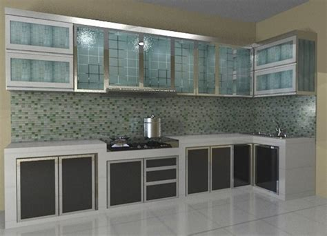 Model Kitchen Set Aluminium Kaca Sederhana Archizone