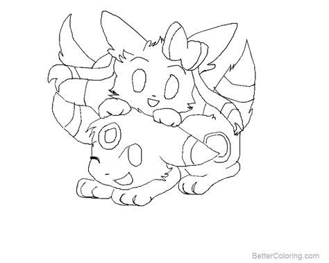 Sylveon Coloring Pages Arenda Stroy