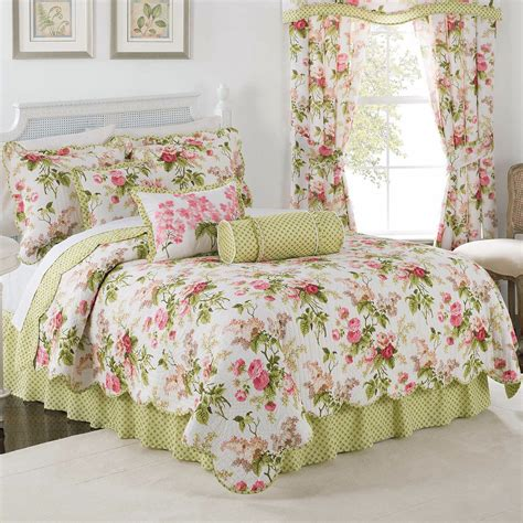 Floral Quilts by Emmas Garden Reversible Floral Quilt Set By Waverly