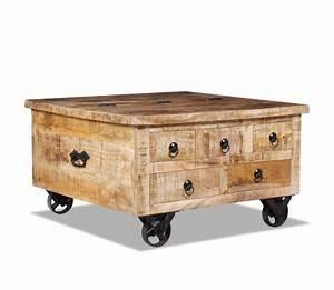 Table Basse Bois Brut : acheter vidaxl table basse bois de manguier brut 70 x 70 x ~ Melissatoandfro.com Idées de Décoration