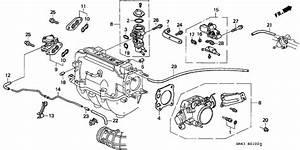 1991 Honda Accord 4 Door Ex Ka 5mt Throttle Body