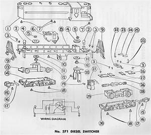 American Flyer Diesel Switcher 371 Parts List  U0026 Diagram
