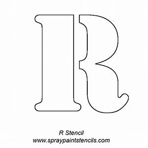 gallery for gt big alphabet stencils With free stencil letters for painting
