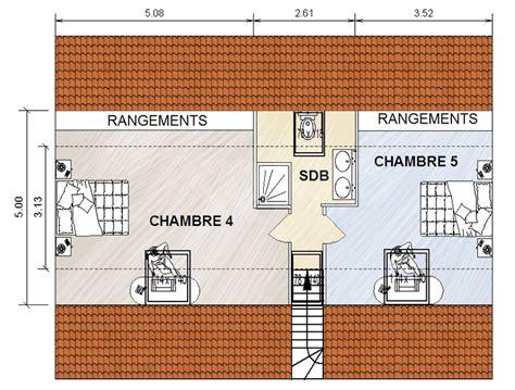 plan maison bois plain pied 4 chambres comment transformer des combles perdus en combles