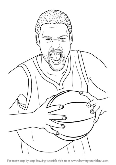 learn   draw klay thompson basketball players step