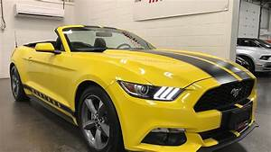 2016 Ford Mustang V6 SOLD SOLD SOLD Convertible Auto Camera Bluetooth Yellow Munro Motors - YouTube