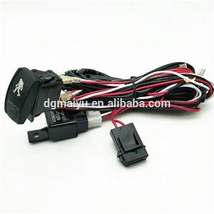 Rocker Switch Wire Harness With 40 Amp Relay Laser Blue
