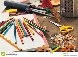 Messy Student's Desk Stock Photo - Image: 34864330