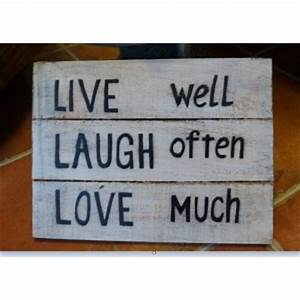 Live Laugh Often Love Much : live well laugh often love much sign jade pagoda ~ Markanthonyermac.com Haus und Dekorationen
