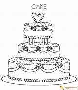 Cake Coloring Birthday sketch template