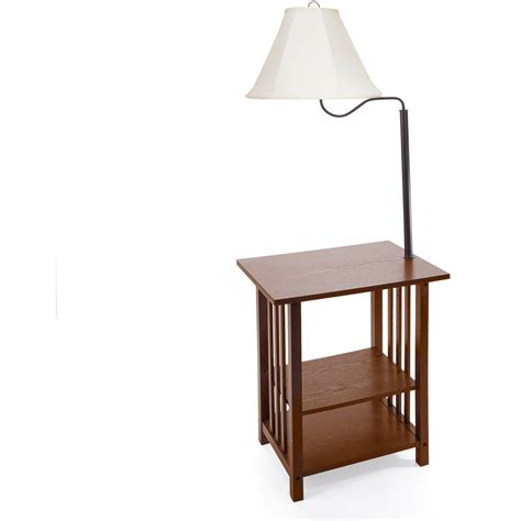 End Table, Lamp Should Match Sofas Style  Wood Table
