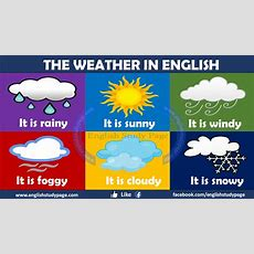 Talking About The Weather In English  English Study Page