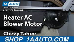 How To Replace Heater Blower Motor With Fan Cage 95-96 Chevy Tahoe