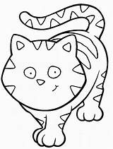 Coloring Cat Cats Pages Funny Children sketch template