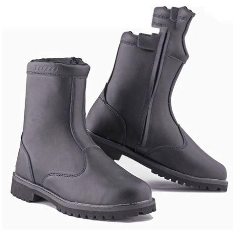 waterproof leather motorcycle boots black short custom motorcycle boot leather waterproof