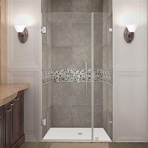 32 Inch Shower Door - aston nautis 32 in x 72 in frameless hinged shower door