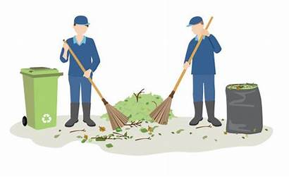Street Sweeping Garbage Cleaners Janitor Vector Clip