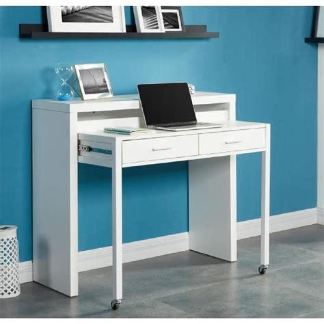 bureau in bureau extensible 110 cm blanc achat vente