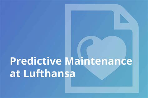 lufthansa  rapidminer  predictive maintenance