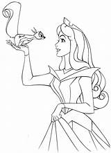 Sleeping Coloring Beauty Disney Princess Pages Aurora sketch template