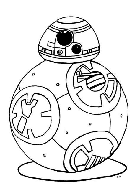 Bb8 Kleurplaat by Original Coloring Inspired By Bb 8 Droid New Character