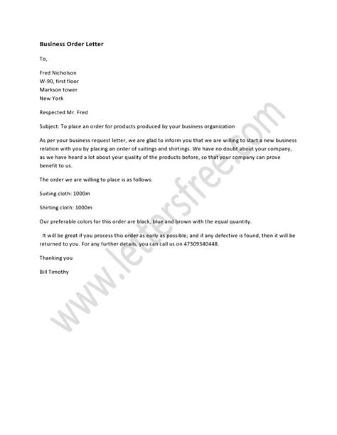 business order letter pinterest order letter  business
