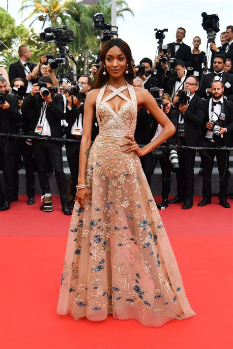 jourdan dunn  dreamiest dresses    cannes red carpet stylebistro