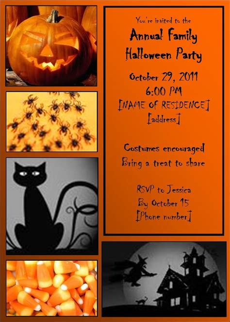 halloween invitation templates microsoft word festival