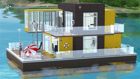hausboot selber bauen komfortables wohnboot simension
